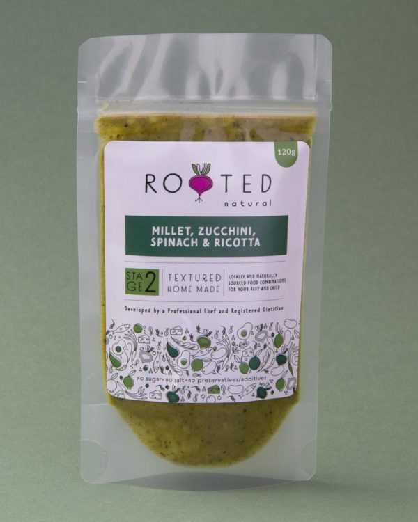 Millet, Zucchini, Spinach and Ricotta baby food